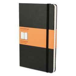 Moleskine - 9788883701122 - Hard Cover Notebook, Ruled, 8 1/4 x 5, Black Cover, 192 Sheets