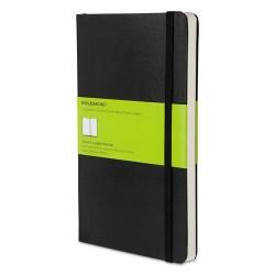 Moleskine - 9788883701146 - Hard Cover Notebook, Plain, 8 1/4 x 5, Black Cover, 192 Sheets