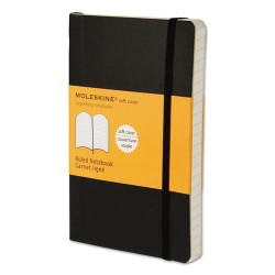Moleskine - 9788883707100 - Classic Softcover Notebook, Ruled, 5 1/2 x 3 1/2, Black Cover, 192 Sheets