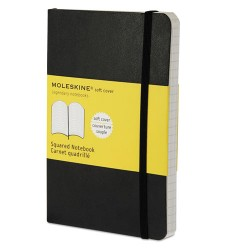 Moleskine - 9788883707124 - Classic Softcover Notebook, Squared, 5 1/2 x 3 1/2, Black Cover, 192 Sheets