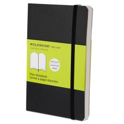 Moleskine - 9788883707148 - Classic Softcover Notebook, Plain, 5 1/2 x 3 1/2, Black Cover, 192 Sheets