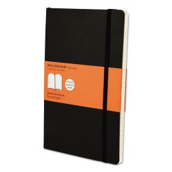 Moleskine - 9788883707162 - Classic Softcover Notebook, Ruled, 8 1/4 x 5, Black Cover, 192 Sheets