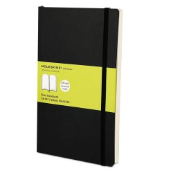 Moleskine - 9788883707209 - Classic Softcover Notebook, Plain, 8 1/4 x 5, Black Cover, 192 Sheets