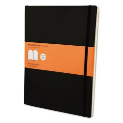 Moleskine - 9788883707223 - Classic Softcover Notebook, Ruled, 10 x 7 1/2, Black Cover, 192 Sheets