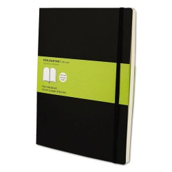 Moleskine - 9788883707261 - Classic Softcover Notebook, Plain, 10 x 7 1/2, Black Cover, 192 Sheets