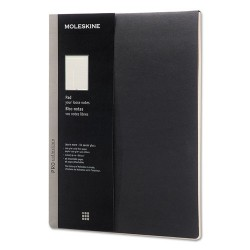 Moleskine - PROPADLBK - Professional Pad, Ruled, 8 1/2 x 11, Black, 96 Sheets