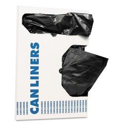 Heritage Bag - H4832TK X01 - Can Liners, 16 gal, 1 mil, Black, 24 x 32, 250/Carton