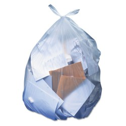 Heritage Bag - H7658SC - Low-Density Can Liners, 60 gal, 1.1 mil, 38 x 58, Clear, 100/Carton