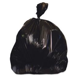 Heritage Bag - H7658SK - Low-Density Can Liners, 60 gal, 1.25 mil, 38 x 58, Black, 100/Carton
