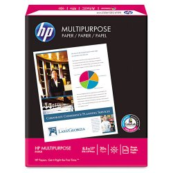 Hewlett Packard (HP) - 112000 - HP MultiPurpose Paper - Letter - 8 1/2 x 11 - 20 lb Basis Weight - Smooth - 96 Brightness - White