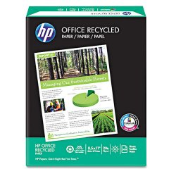 Hewlett Packard (HP) - 112100 - HP Recycled Paper - Letter - 8 1/2 x 11 - 20 lb Basis Weight - Recycled - 30% Recycled Content - 92 Brightness - 5000 / Carton - White