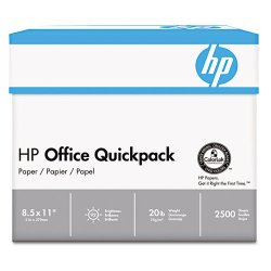 Hewlett Packard (HP) - 112103 - HP Office QuickPack Paper - Letter - 8 1/2 x 11 - 20 lb Basis Weight - 92 Brightness - 2500 / Carton - White