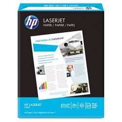 Hewlett Packard (HP) - 112400 - International Paper Laser Print Laser Paper - Letter - 8 1/2 x 11 - 24 lb Basis Weight - Smooth - 98 Brightness - White
