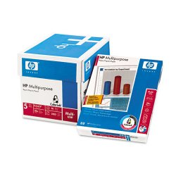 Hewlett Packard (HP) - 115100 - HP Laser, Inkjet Print Copy & Multipurpose Paper - Letter - 8 1/2 x 11 - 20 lb Basis Weight - Smooth - 96 Brightness - 5 / Carton - Bright White