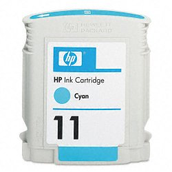 Hewlett Packard (HP) - C4836A - HP 11 Cyan Original Ink Cartridge - Inkjet - 2350 Page - 1 Each