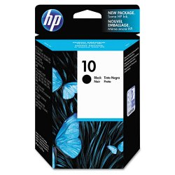 Hewlett Packard (HP) - C4844A - HP 10 Black Original Ink Cartridge - Inkjet - 2200 Page - 1 Each