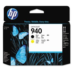 Hewlett Packard (HP) - C4900A - HP 940 Original Printhead - Single Pack - Inkjet - Black, Yellow - 1 Each
