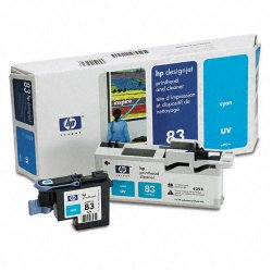 Hewlett Packard (HP) - C4961A - HP 83 Original Printhead - Single Pack - Inkjet - 1000 Pages - Cyan