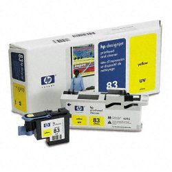 Hewlett Packard (HP) - C4963A - HP 83 Original Printhead - Single Pack - Inkjet - 1000 Pages - Yellow