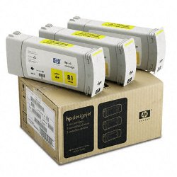 Hewlett Packard (HP) - C5069A - HP Yellow Ink Cartridge - Inkjet - 722 Page, 1312 Page - 3 / Pack
