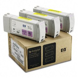 Hewlett Packard (HP) - C5077A - HP 83 Light Magenta Ink Cartridge - Light Magenta - Inkjet