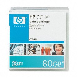 Hewlett Packard (HP) - C5141F - HP DLT Tape IV Data Cartridge - DLTtapeIV - 40 GB (Native) / 80 GB (Compressed) - 1827.43 ft Tape Length - 1 Pack