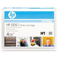 Hewlett Packard (HP) - C5706A - HP DAT DDS-1 Data Cartridge - DDS-1 - 2 GB (Native) / 4 GB (Compressed) - 300.20 ft Tape Length - 1 Pack