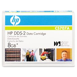 Hewlett Packard (HP) - C5707A - HP DDS-2 Data Cartridge - DDS-2 - 4 GB (Native) / 8 GB (Compressed) - 405.18 ft Tape Length - 1 Pack