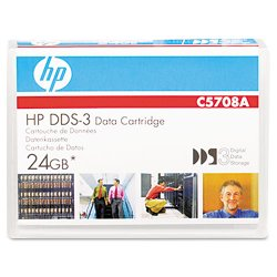 Hewlett Packard (HP) - C5708A - HP DAT DDS-3 Data Cartridge - DDS-3 - 12 GB (Native) / 24 GB (Compressed) - 410.10 ft Tape Length - 1 Pack