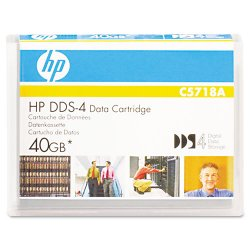 Hewlett Packard (HP) - C5718A - HP DAT DDS-4 Data Cartridge - DDS-4 - 20 GB (Native) / 40 GB (Compressed) - 492.13 ft Tape Length - 1 Pack