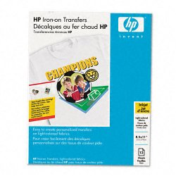 "Hewlett Packard (HP) - C6049A - HP Iron-on Transfer Paper - Letter - 8.50"" x 11"" - 91 Brightness - 12 / Pack - White"