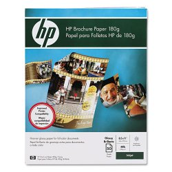Hewlett Packard (HP) - C6817A - HP Brochure/Flyer Paper - Letter - 8 1/2 x 11 - 48 lb Basis Weight - Glossy - 89 Brightness - 50 / Pack - Glossy