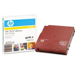 Hewlett Packard (HP) - C7972A - HP LTO Ultrium Generation II Data Cartridge - LTO-2 - 200 GB (Native) / 400 GB (Compressed) - 1998.03 ft Tape Length - 1 Pack
