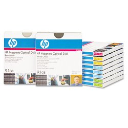"Hewlett Packard (HP) - C7983A - HP 5.25"" Magneto Optical Media - 9.10 GB - 5.25"" - Rewritable - 4 KB per sector"