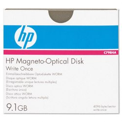 "Hewlett Packard (HP) - C7984A - HP 5.25"" Magneto Optical Media - 9.10 GB - 5.25"" - 14x - WORM - 4 KB per sector"