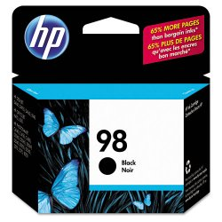 Hewlett Packard (HP) - C9364WN#140 - HP 98 Black Ink Cartridge - Black - Inkjet - 400 Page
