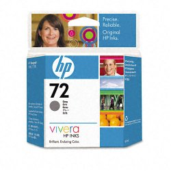 Hewlett Packard (HP) - C9401A - HP 72 Original Ink Cartridge - Gray - Inkjet - 1 Each
