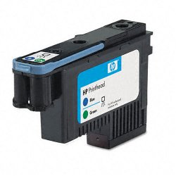 Hewlett Packard (HP) - C9408A - HP 70 Blue and Green Printhead - Inkjet - 1 Each