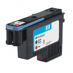 Hewlett Packard (HP) - C9409A - HP 70 Matte Black and Red Printhead - Inkjet - 1 Each