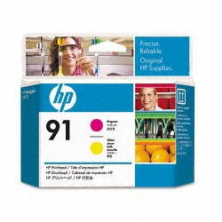 Hewlett Packard (HP) - C9461A - HP 91 Original Printhead - Single Pack - Inkjet - Magenta, Yellow - 1 Each