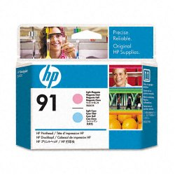 Hewlett Packard (HP) - C9462A - HP 91 Light Magenta and Light Cyan Printhead - Inkjet - 1 Each