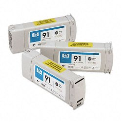 Hewlett Packard (HP) - C9481A - HP 91 Multipack Photo Black Ink Cartridge - Inkjet - 3 / Pack