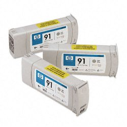 Hewlett Packard (HP) - C9482A - HP 91 Original Ink Cartridge - Multi-pack - Inkjet - Light Gray - 3 / Pack