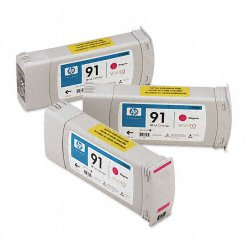 Hewlett Packard (HP) - C9484A - HP 91 Original Ink Cartridge - Multi-pack - Inkjet - Magenta - 3 / Pack