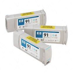 Hewlett Packard (HP) - C9486A - HP 91 Multipack Light Cyan Ink Cartridge - Inkjet - 3 / Pack