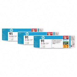 Hewlett Packard (HP) - C9487A - HP 91 Multipack Light Magenta Ink Cartridge - Inkjet - 3 / Pack