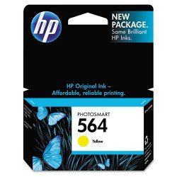 Hewlett Packard (HP) - CB320WN#140 - HP 564 Yellow Ink Cartridge - Inkjet - 1 Each