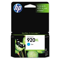 Hewlett Packard (HP) - CD972AN#140 - HP 920XL Cyan Ink Cartridge - Cyan - Inkjet - 700 Page