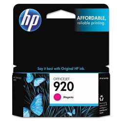 Hewlett Packard (HP) - CH635AN#140 - HP 920 Original Ink Cartridge - Magenta - Inkjet - Standard Yield - 300 Page - 1 / Pack