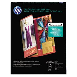 Hewlett Packard (HP) - Q5443A - HP Brochure/Flyer Paper - Letter - 8 1/2 x 11 - 48 lb Basis Weight - Matte - 100 / Pack - White